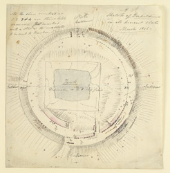 Plan of the Stupa, Amaravati. March 1816